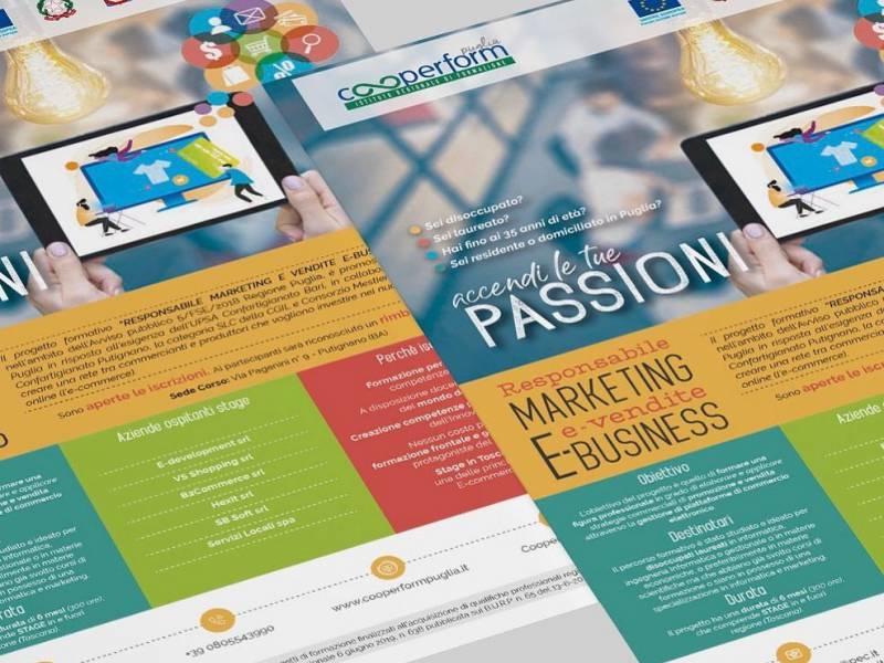 """Locandina corso """"Responsabile MARKETING e vendite E-BUSINESS"""""""